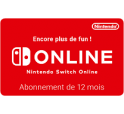 Nintendo Switch Abonnement 12 mois digital 19,99€