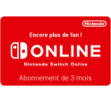 Nintendo Switch Abonnement 3 mois digital 7,99€