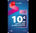 SFR La Carte ILLIMITE 10€99