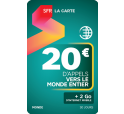 SFR La Carte MONDE 20€