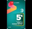 SFR La Carte MONDE 5€