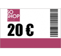 Recharge SoShop.club 20 €