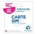 Carte Sim pack prêt à l'emploi Bouygue Telecom Trio