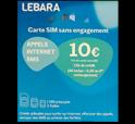 Carte Sim Lebara mobile