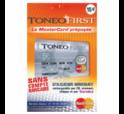 Carte de paiement prépayée Toneo First mastercard