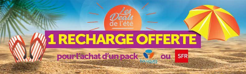 Bannière promotionnelle pack mobile recharge offerte